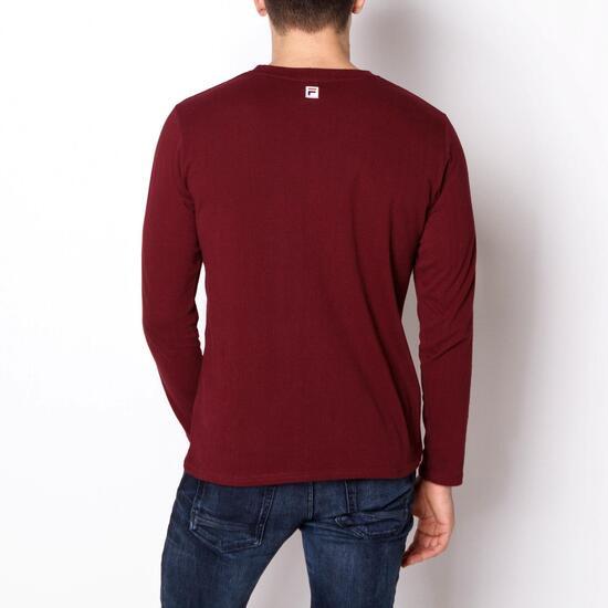 FILA BASIC Camiseta Manga Larga Granate Hombre