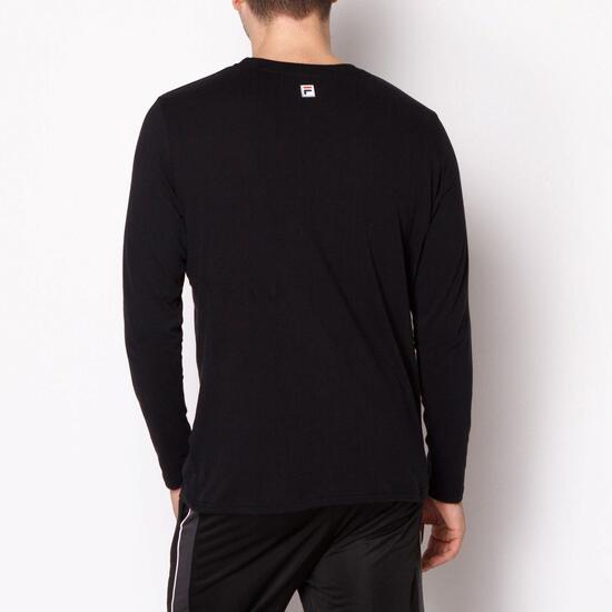 FILA Camiseta Manga Larga Negro Hombre