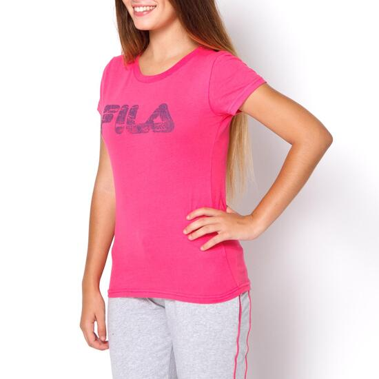FILA BASIC Camiseta Manga Corta Fucsia Mujer  f1abdcf8daa