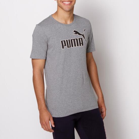 PUMA KA Camiseta Manga Corta Gris Hombre