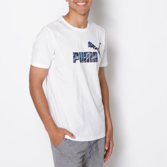 PUMA FUN Camiseta Manga Corta Blanco Hombre