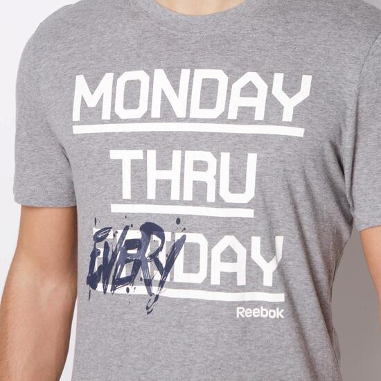 REEBOK EVERYDAY Camiseta Manga Corta Gris Hombre