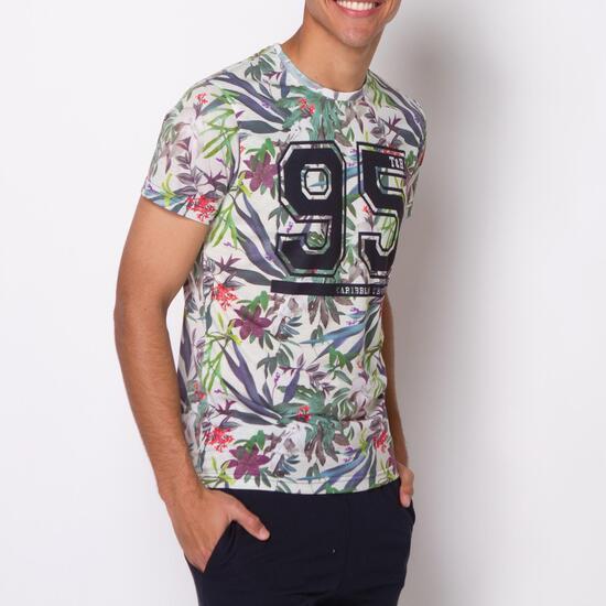 Camiseta Manga Corta Estampada TRUNK&ROOTS Hombre