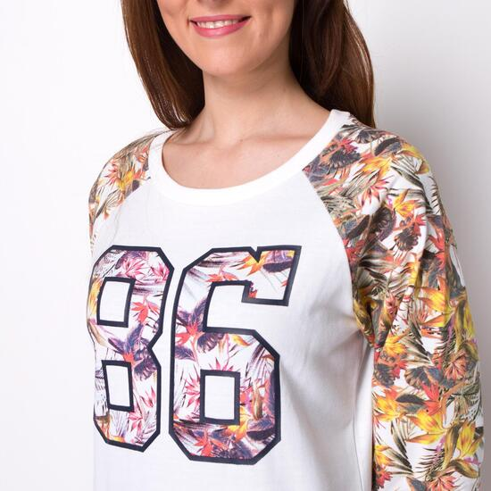 Camiseta Manga Larga TRUNK&ROOTS Estampada Mujer
