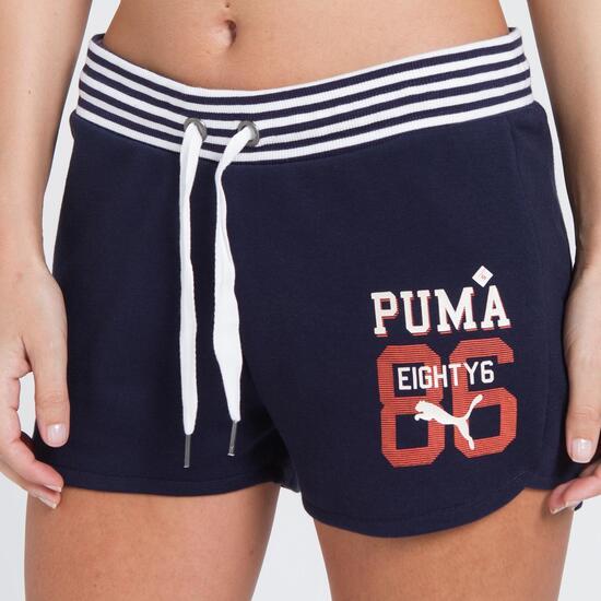 PUMA STYLE Pantalón Corto Marino Mujer