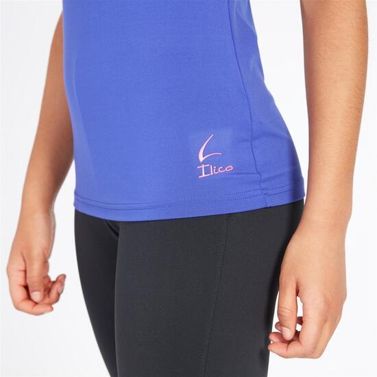 Camiseta Gimnasio ILICO Azul Mujer