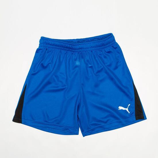 PUMA Pantalón Corto Fútbol Azul Niño
