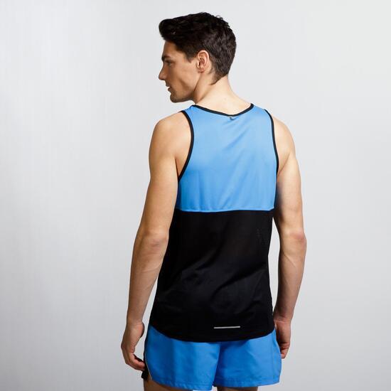 NIKE RACER SINGLET Camiseta Running Tirantes Azul Hombre