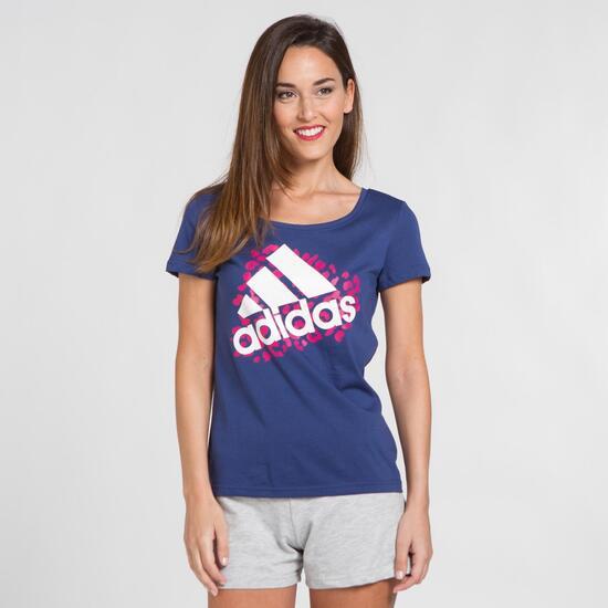 ADIDAS Camiseta Morado Mujer