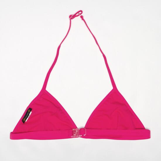 Top Bikini Triángulo UP Fucsia Niña (10-16)