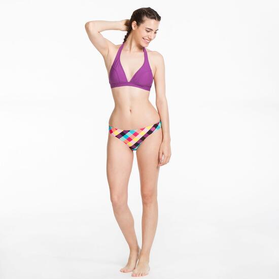 Top Bikini Triángulo UP STAMPS Morado