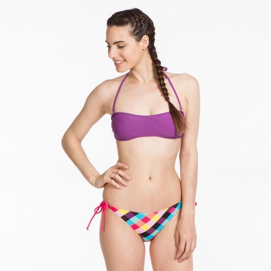 Top Bikini Bandeau UP STAMPS Morado
