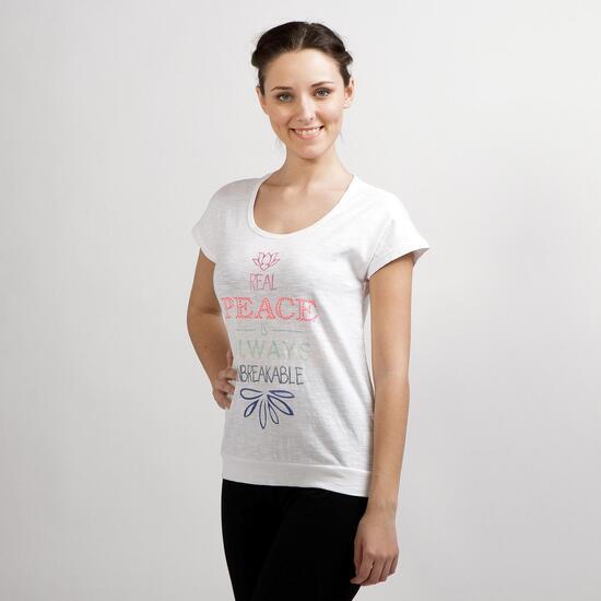 Camiseta Yoga ILICO ZEN Blanco Mujer