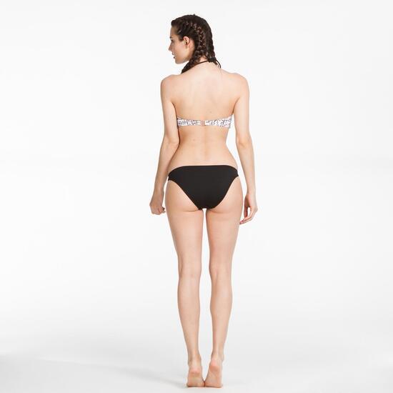 Bikini Bandeau SILVER Blanco Negro Mujer