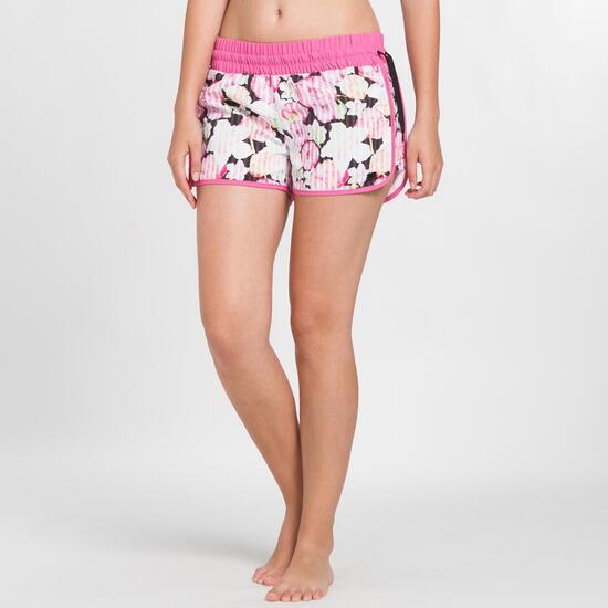 Pantalón Corto Curvo SILVER Estampado Rosa Mujer