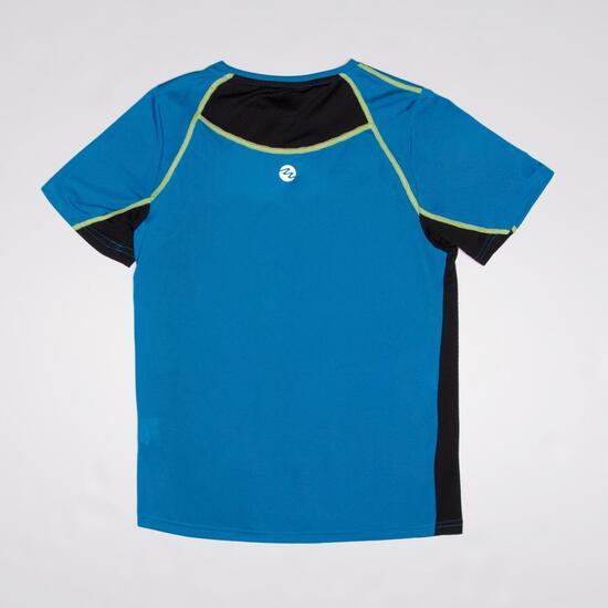 Camiseta Running Manga Corta IPSO Azul Niño