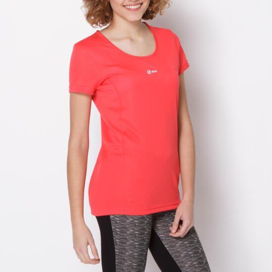 Camiseta Running IPSO BASIC Coral Mujer