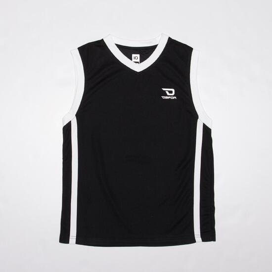 Camiseta Baloncesto Junior Dafor Negra