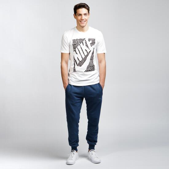 NIKE FUTURA ART Camiseta Casual Blanco Hombre