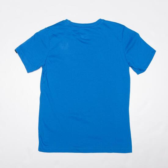 ADIDAS Camiseta Manga Corta Azul Niño