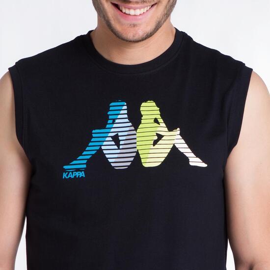 KAPPA Camiseta Sin Mangas Negra Hombre