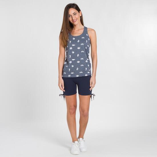 Camiseta Tirantes TRUNK&ROOTS Azul Mujer