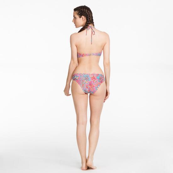Bikini Bandeau SILVER Multicolor Rosa Mujer