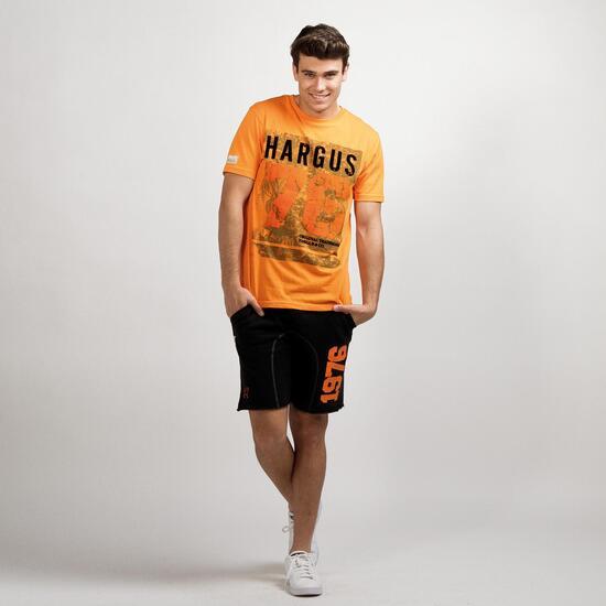 Camiseta Manga Corta HARGUS TROPIC Naranja Hombre