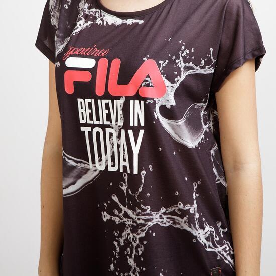 FILA WAVE Camiseta Negra Espalda Abierta Mujer