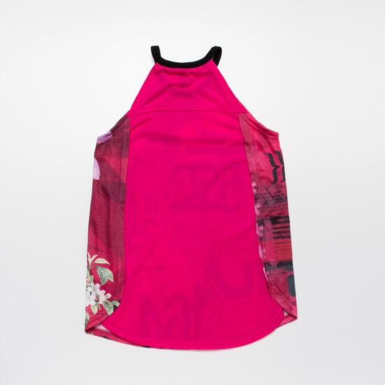 FILA GARDEN Camiseta Tirantes Fucsia Niña (10-16)