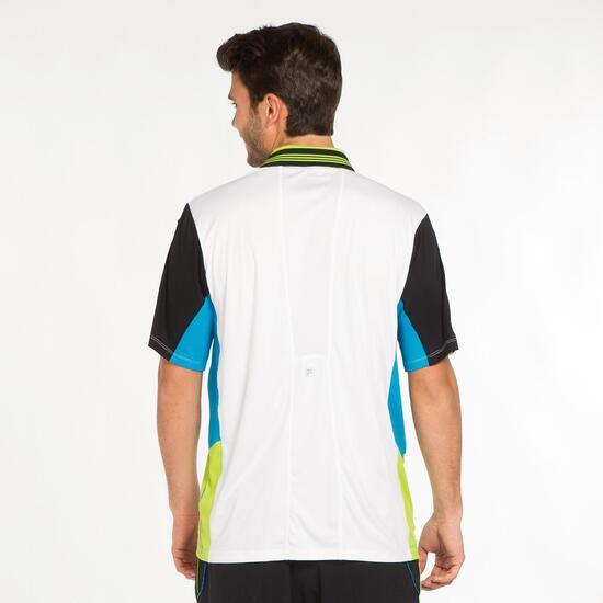 FILA BJORK Polo Tenis Blanco Hombre