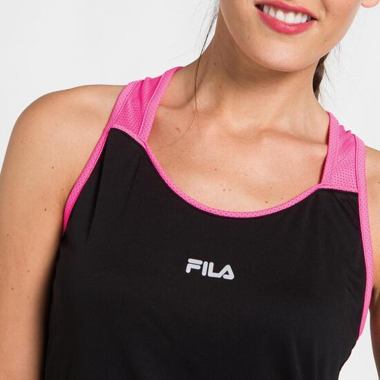 FILA BJORK Camiseta Tenis Tirantes Negro Mujer
