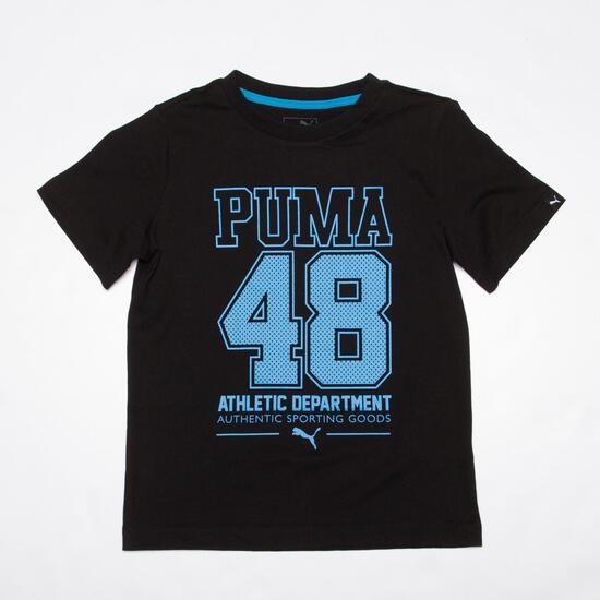 PUMA 48 Camiseta Negro Niño (6-16)