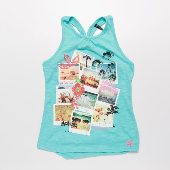 Camiseta Tirantes SILVER HAWAI Turquesa Niña (10-16)