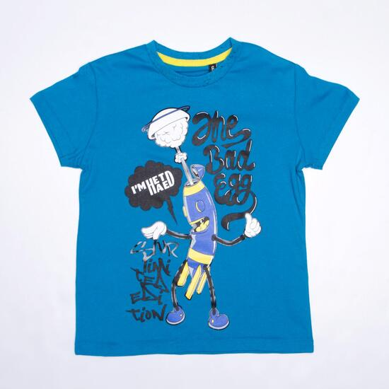 Camiseta Azul SILVER STAMPS Niño (2-8)