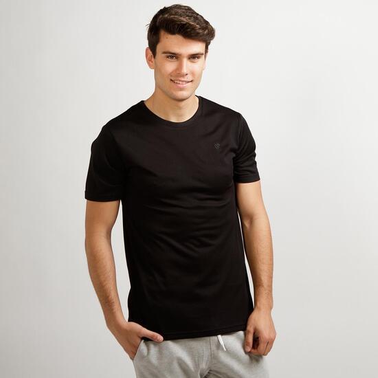 Camiseta Básica Negra UP Hombre
