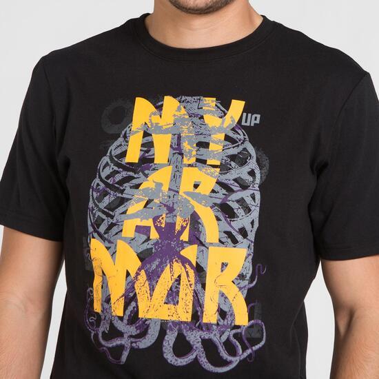 Camiseta Negra SILVER STAMPS Hombre