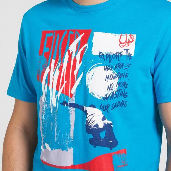 Camiseta Azul SILVER STAMPS Hombre