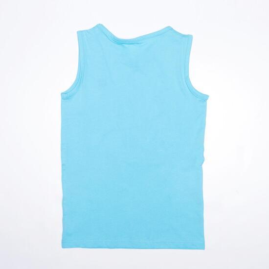 Camiseta Sin Mangas UP BASICS Celeste (10-16)