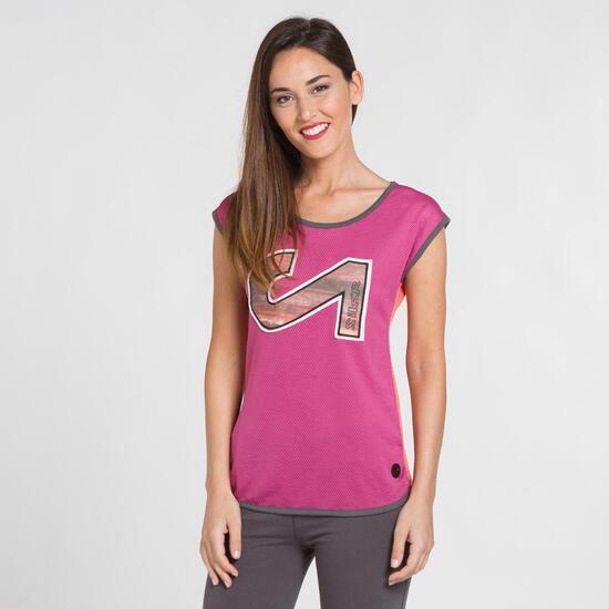 Camiseta Microperforada SILVER Fucsia Mujer