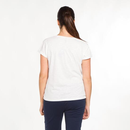 Camiseta Casual Talla Grande SILVER Blanca Mujer