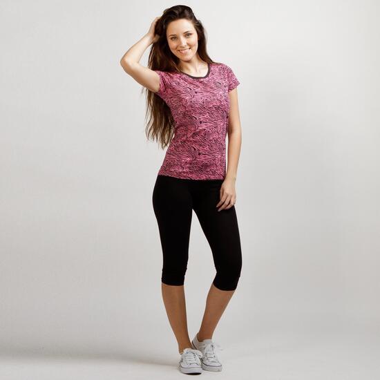 Camiseta Estampada UP BASIC Rosa Mujer