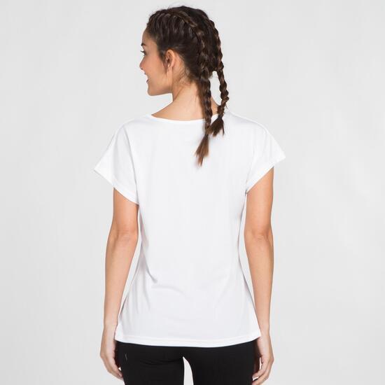Camiseta Blanca Microperforada UP BASIC Mujer