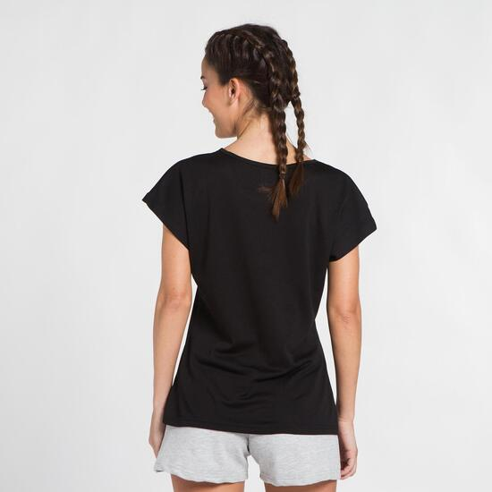 Camiseta Negra Microperforada UP BASIC Mujer
