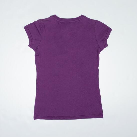 Camiseta Casual UP STAMPS Morado Niña (10-16)