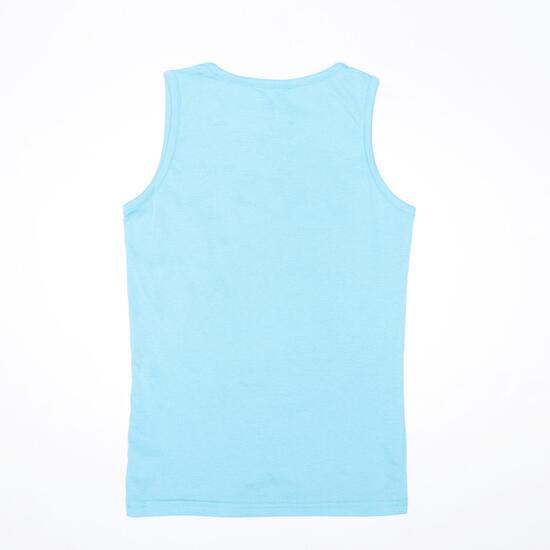 Camiseta Tirante Ancho UP STAMPS Celeste Niña (10-16)