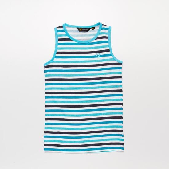 Camiseta Tirantes Rayas UP BASIC Celeste Niña (10-16)
