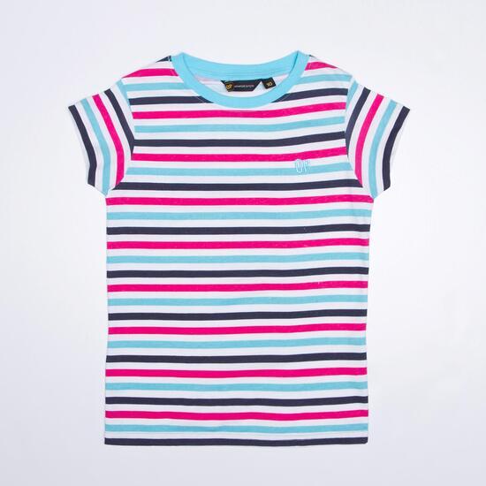 Camiseta Rayas UP Celeste Niña (10-16)