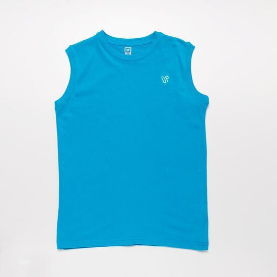 Camiseta Sin Manga UP BASIC Azul Niño (10-16)