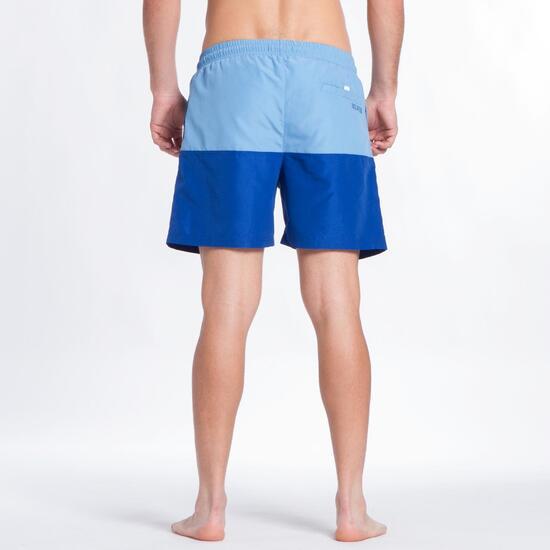 Bañador Corto SILVER Bicolor Azul Hombre